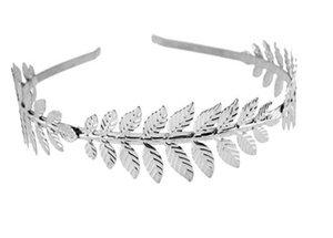 Римская богиня лист оголовье аксессуары для волос Для женщин свадебная ветвь изящные свадебные украшения для волос Корона головное платье Boho Alice Band
