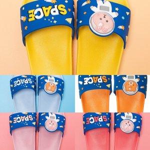 2ezHy Children's cute cartoon Children children slippers Sandals children's slippers home soft bottom boy's home bathroom shower sandals bab