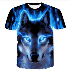 2019 Hot Sales Big Yards T-Shirt Men's Wolf 3D T-Shirt Summer Clothes TShirt DRW061