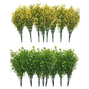 Arbustes artificiels Bushes, 12 Pcs Faux Plantez des fleurs, feuilles artificielles en forme de cloche, pour accrocher Pots de fleurs