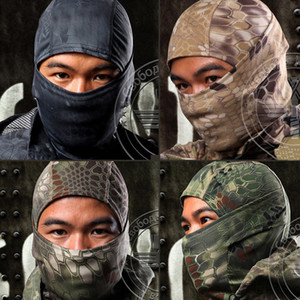 Cycling Caps & Masks Outdoor Camouflage Tactical Balaclava Paintball Full Face Motorcycle Skiing Mask Hood