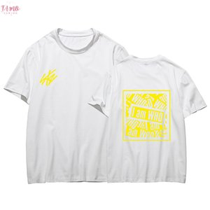 Kpop Stray Kids T Shirt Straykids 2019 Streetwear Jisung Woojin Minho Changbin Cap Sleeve Felix Hip Hop Short Sleeve Cotton T Shirt