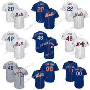 Mens Knit Jersey 20 Pete Alonso 48 Brad Brad Dominic Smith Jed Lowrie Baseball Personalizado Algum jogadores Camisas