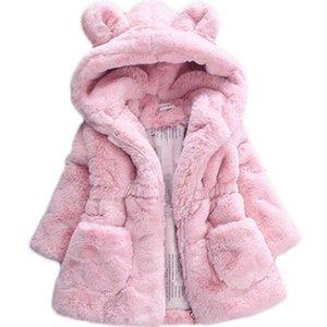 Bibihou d'hiver de bébé filles en fausse fourrure Toison manteau Pageant hiver chaud Veste Habineige Vêtements Vêtements pour enfants bébé