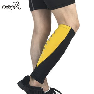 Uomini Maglia a manica compressione scaldino Sport Vitello della copertura per il Cycling Marathon Correre Legwarmers
