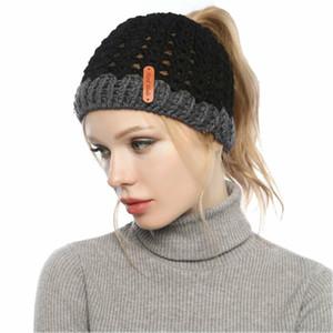 Nuovo arrivo di colore bloccato cappello coda di cavallo top - grigio chiaro - M (56-58cm)