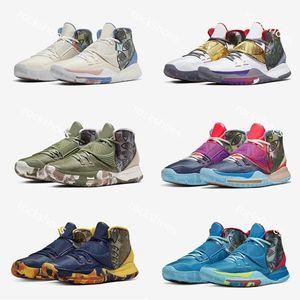 2020 New Kyrie 6 Pre-Heat Shang Hai Men Basketball Shoes Lrving 6s Miami Berlin Manila Dark green mens Sports Sneakers EUR40-46