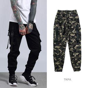 TKPA Primavera Mens Camouflage Carga Pants Estilo Jogger Casual Calças Rua Pockets Camo calças compridas