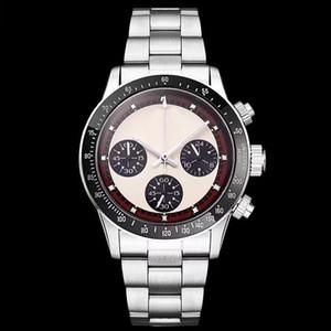 2019 UHR Chronograph Vintage Perpetual Paul Newman Japanischer Quarz Edelstahl Männer Herrenuhren Uhr Armbanduhren