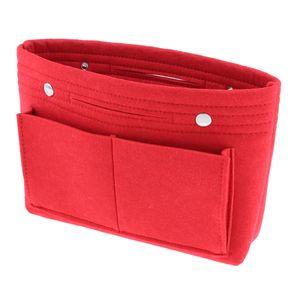 Makeup Felt Fabric Tote, Handbag Purse Organizer, Insert Divider Shaper Bag in Bag
