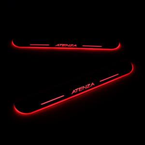 Para Mazda 6 Atenza 2013-2020 acrílico Movimiento Bienvenido LED del coche del pedal placa del desgaste del travesaño de la puerta del pedal Camino Luz