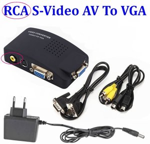 10set PC Laptop Composite Video TV BNC / RCA композитный S-Video AV In To PC VGA LCD Out адаптер конвертер Переключатель Box
