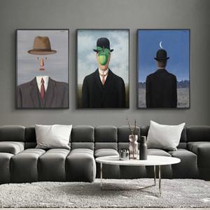 El hijo del hombre por René Magritte Resumen pared del arte de la lona de pintura Arte Surrealista Figura impresiones del cartel cuadro de la pared de la sala de estar de la decoración