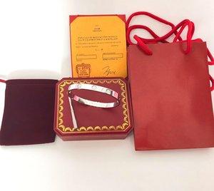 Classic Love Bracciali argento oro rosa Bracciale Bangles Donna Uomo Vite Cacciavite Bracciale Coppia gioielli Abbina l'imballaggio originale