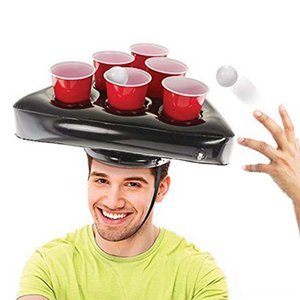 Inflatable Beer Hat Floating Pong Game For Swimming Pool Party Supplies Beach Inflatable Toys Other Golf Products Golf For Children Giant Be
