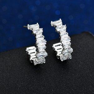 11.11 Sale Luxury Crystal Stud Earrings Geometric Wedding Statement Earrings Korean Fashion Jewellery 2019 Women Accessories