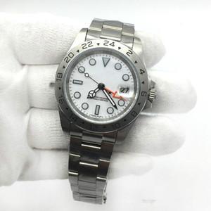 montre Hot Sale Mens Watch EXP cadran blanc Mouvement mécanique automatique Homme en acier inoxydable Montres Homme Montre