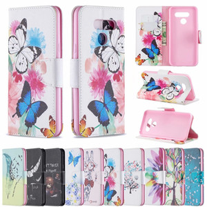 Luxury Leather Wallet Case For LG LG K40 K50 Q60 Stylo 5 4 G7 Q8 Don't Touch My Phone Owl Flower Butterfly Feather Bear ID Slot Flip Cover