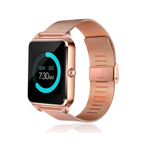 Z60 Bluetooth Smart Watch Téléphone Smart Steel Support Sim TF Caméra Caméra Fitness Tracker GT09 SmartWatch pour iOS Android