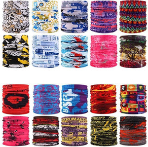 233 Art Printed Stirnband Bandana Schal Männer Frauen Multifunktionale Seamless Gesichtsmaske Tube Ring Schal Sea Shipping IIA136