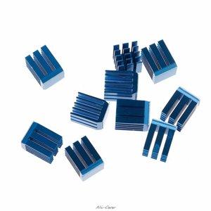 D Imprimante Pièces Accessoires 10pcs Bleu Aluminium Dissipateur Moteur d'entraînement Stepper dissipateur thermique spécial de refroidissement pour TMC2100 pour la 3D Imprimantes Prin ...