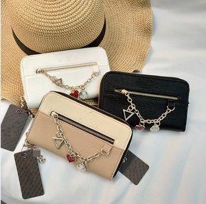 Brand New Frauen Mappen Liebe Kette kleine Mappe langer Absatz neue Brieftasche Damen hängt Clutch Bag