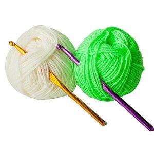 14Pcs Set Crocheting Needle Tool Metal Aluminum Colored Crochet Sweater Knitting