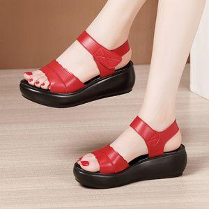 Wedges Heel Sandals Women Platform Shoes Summer 2020 New 6cm High Heel Ladies Open Toe Sandals