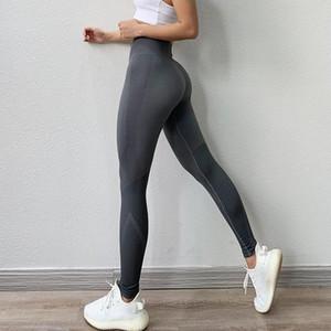Academia de cintura alta Legging Tummy Controle Seamless Energia gymwear treino de corrida Activewear Yoga Pant Hip elevação Wear Trainning