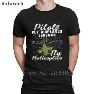 uçaklarının efsaneleri helikopter t gömlek şirin humor pamuk yay düz renk yenilik pilotlar boyutu 5XL örülmüş