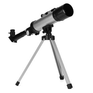 الجسم الصغيرة الفنية في الهواء الطلق للمبتدئين الفضاء 90X احادي العين مع ترايبود المحمولة سبائك الألومنيوم والفلكية تلسكوب