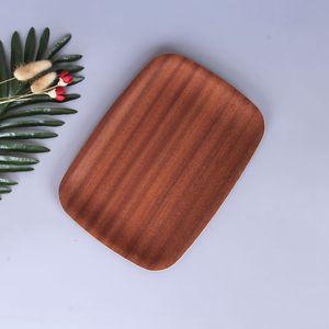Экологичные Главная Кухня инструмент Черный орех Твердые деревянные пластины Закуска конфеты торт Посуда Деревянные хранения ручной работы Ремесло хлеба Лотки DH0396 T03