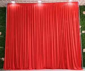 3m * 3m 배경에 모든 색상 파티 커튼 축제 축하 결혼식 무대 공연 배경 Drape Drape Wall valane backcloth