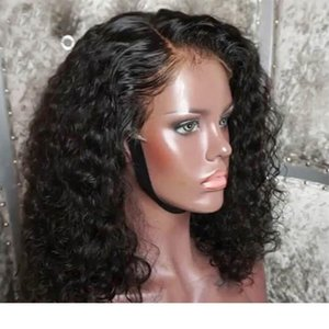 Hot Popular Curly Wavy Full lace Wigs with Baby Hair Brazilian Remy Hair Lace Front Wigs for Black Women