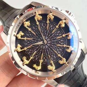 New Hot Marca Homens Relógios EXCALIBUR RDDBEX0495 Montre Homme Homens Relógio Relogios Cinto De Couro Vestido de Negócios Masculino Relógio