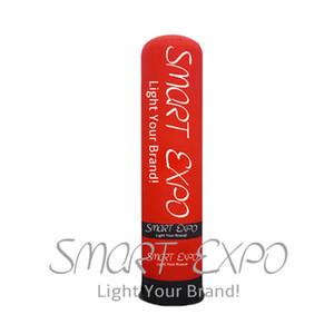 La pubblicità ha condotto la luce di Oxford all'aperto gira la posta gonfiabile su ordinazione della lampada della colonna LED con il ventilatore interno Dia0.46 * 2m
