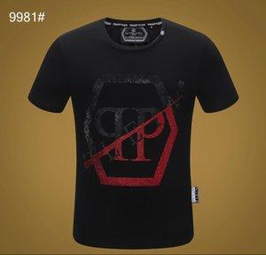 Los hombres de la moda 100% algodón transpirable Carta de la camiseta ocasional de O-cuello de los hombres de impresión de lujo de las mujeres 2020 de manga corta de verano libre de la camiseta del envío Q74