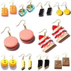 Brinco Para Mulheres resina Gota Custom Made Handmade das meninas bonitos presente cookies Macaron bolo Food Donuts