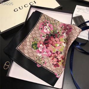 2019 senhora primavera e verão multi-funcional pequeno lenço quadrado letra projeto da flor lenço tamanho 50 * 50 cm cachecol