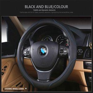 Volante in pelle copertura di rotella per BMW E46 E60 E30 E34 E90 E83 X3 F20 COPRIVOLANTE Accessori auto Cubre Volante Coche