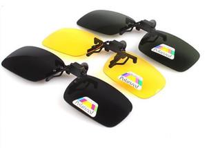 20pcs / lot Polarize Gündüz Gece Görüş Klipsli Mercek Sürüş Glasses Flip-up Güneş Man Sürüş Gözlük Gece Görüş Gözlükleri