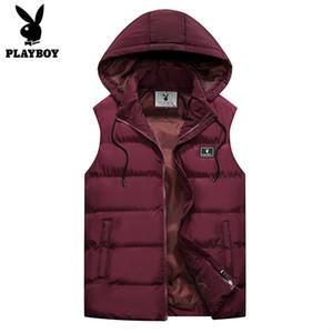 Aşağı Yelek Erkek İnce Yelek Erkek Windproof Duck PLAYBOY Yeni Geliş Erkekler Kolsuz Ceket Kış Ultralight Beyaz Coats B950608 Isınma