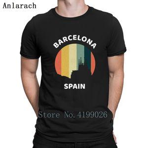Barcelona Spanien-T-Shirts Top-Qualität Fitness Trend Personality Männer-T-Shirt klassischer Frühling Unisex Anlarach
