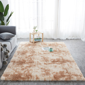 Factory direct wholesale silk wool carpet PV velvet tie dyed carpet living room study bedside bedroom carpet floor mat SZ542