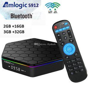 T95Z زائد الروبوت 7.1 TV صندوق AMLogic نوع S912 2GB / 3GB RAM 16GB / 32GB المزدوج واي فاي 2.4G + 5G بلوتوث 4.0 التلفزيون الذكية