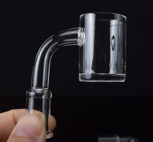 25 мм кварцевый Eniail Banger Nail 4 мм толщиной дно с мужской женщиной 90 градусов Прозрачный соединенный квартовый браслетный гвоздь для катушки DAB