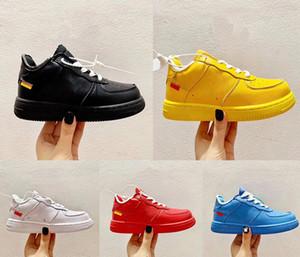 2020 bambini Forze One 1 MCA Sneakers piccola università Bambini MoMA Low Volt Nero Scarpe Blu Sport ragazze del ragazzo pattini infantili Virgilio Ablohs