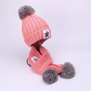 Mode-2019 nouvelle arrivée hiver enfants écharpe et chapeau ensemble écharpe en laine chaude et bonnet ensemble