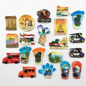BABELEMI 1pc résine 3D Aimant Thaïlande Bangkok Chiang Mai Phuket Pattaya Koh Chang Souvenirs touristiques aimants pour réfrigérateur