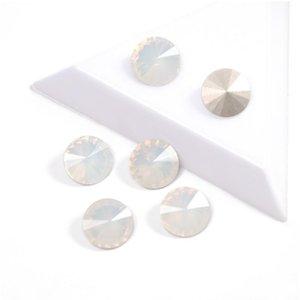 YANRUO 1.122 cristais de cor branca Opala Diamante melhor qualidade Rivoli Fantasia Rhinestone Pointback strass para Nail Art Decoração